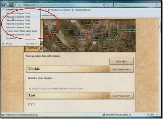 Ajax navigation